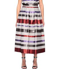 emporio armani skirt emporio armani wide skirt with multicolor bands