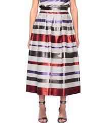 emporio armani skirt emporio armani wide skirt with multicolor bands