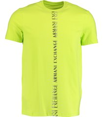 armani exchange t-shirt groen slim fit 3kztfl.zjeaz/1853