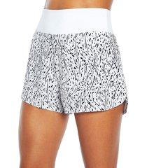 marika women's kelsie printed shorts - vallarta blue - size s