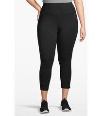 lane bryant women's active capri legging - crisscross back 18/20 black