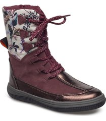 warm boot shoes boots ankle boots ankle boots flat heel röd ilse jacobsen