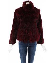 adrienne landau rabbit fox fur jacket