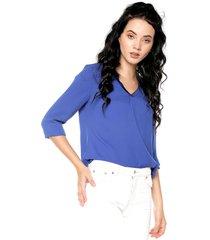 blusa azul royal nautica