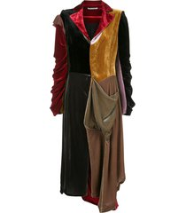 aganovich missmach velvet dress - red