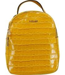 mochila liron amarillo lilás carteras