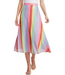 penelope sequin rainbow midi skirt
