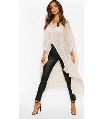 oversized dobby chiffon maxi blouse, ecru