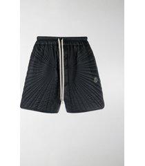 moncler + rick owens padded track shorts