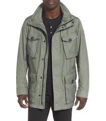 men's canada goose stanhope windproof jacket, size medium - green