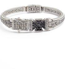 men's konstantino stavros spinel cross cuff bracelet