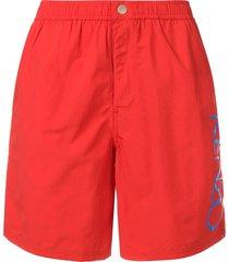 kenzo logo swim shorts - red