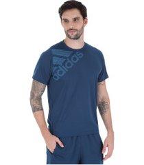 camiseta adidas freelift sport gf bos - masculina - azul escuro