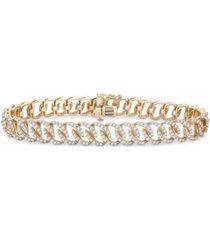 diamond oval link bracelet (3 ct. t.w.) in 14k gold