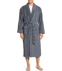 men's majestic international ultra lux robe, size small/medium - grey