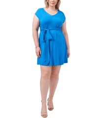1.state trendy plus size belted jersey dress
