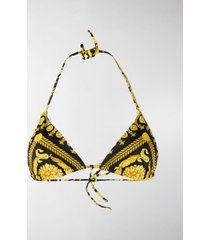 versace baroque print bikini top