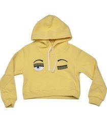 chiara ferragni flirting crop hoodie