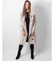 płaszcz hoodie grey oversize
