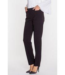 czarne, ponadczasowe spodnie prasowane w kantki - carmell