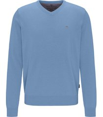 fynch-hatton trui sky v-hals casual fit