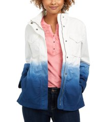 style & co petite cotton ombre jacket, created for macy's