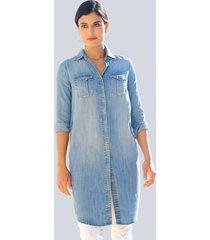 jurk alba moda blue bleached