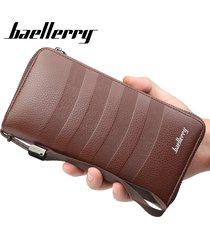 billetera larga para hombres baellerry 8mw cartera-marrón