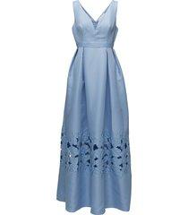 liv dress maxi dress galajurk blauw by malina