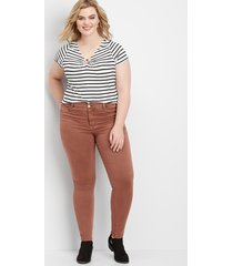 maurices plus size womens denimflex™ high rise terra cota color jegging orange