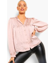 gerimpelde oversized blouse, blush