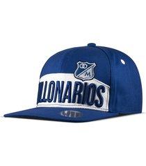 gorra oficial plana azul millonarios otocaps fmic-006 azul