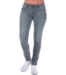 diesel womens livier skinny jeans size 32 inch in grey