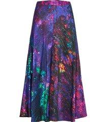 reidar bell skirt knälång kjol multi/mönstrad hálo