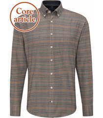 fynch-hatton overhemd ruit supersoft flannel button down casual fit