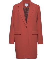 long jacket w. basting stitch detai blazer kavaj röd coster copenhagen