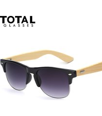 glasses classic half metal sunglasses men women glasses fashion wood sun glasses