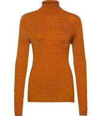 vibolonia rollneck l/s knit top-fav turtleneck polotröja brun vila