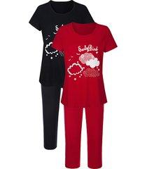 pyjama's per 2 stuks blue moon rood::marine::wit