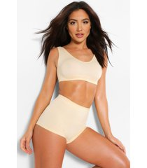 ribbed seamless wide apex bralette, nude