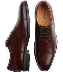 florsheim men's caputo burgundy red cap-toe derbys - size: 8.5 d-width