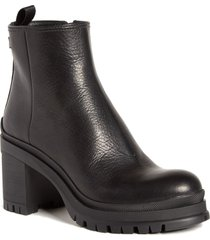 women's prada lug sole leather bootie, size 11us - black