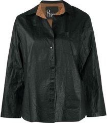 8pm coated cotton shirt - black
