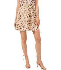 1.state women's elastic waist double layer skirt