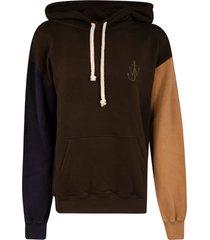 j.w. anderson logo hood hoodie