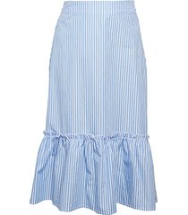 striped cotton voile skirt
