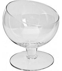 taã§a pequena, bomboniere de vidro 12x11cm - festas, hoteis, buffet - branco - dafiti