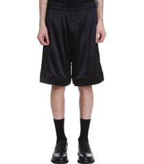 laneus shorts in black silk