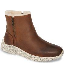 women's johnston & murphy kimberly waterproof genuine shearling lined sneaker bootie