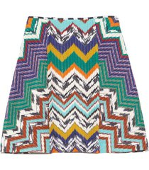 zig zag mini skirt in blue multicolor